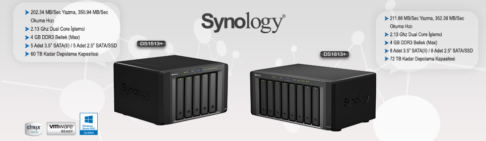 Synology DS1513 ve DS 1813